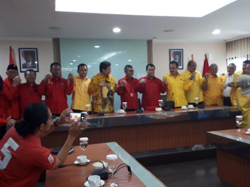 PDIP dan Golkar Sepakati Strategi Pemenangan Jokowi di 2019