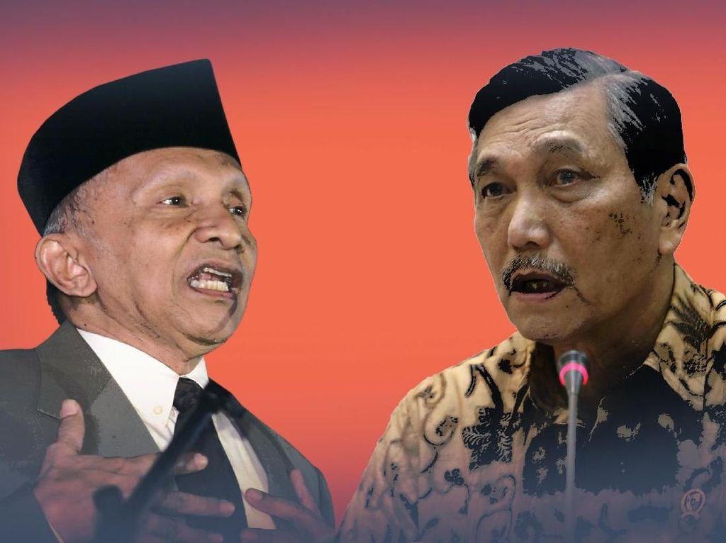Debat-debat Amien Vs Luhut