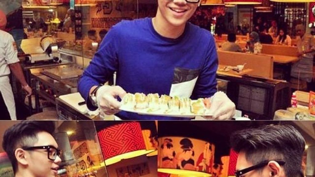 Ini Gaya si Ganteng Brandon Salim Makan Sushi hingga Es Krim