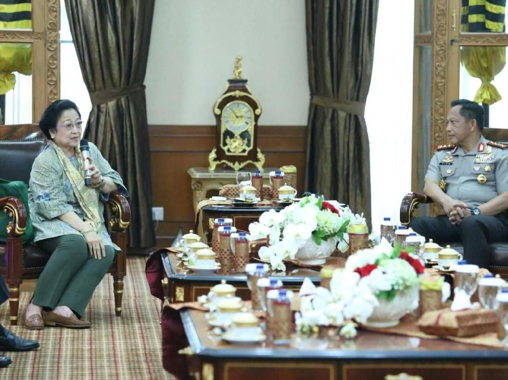 Pertemuan Megawati-Kapolri Sempat Singgung Amendemen UUD 1945