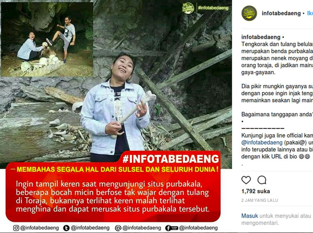 Wisatawan yang Melecehkan Makam Toraja Ditangkap!