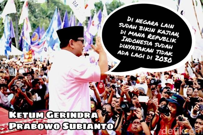 Prabowo Dituding Desperate, Gerindra: Beliau Motivator Ulung