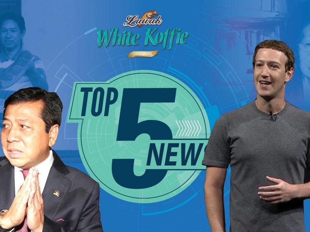 Zuckerberg Bicara soal Data Bocor, Novanto Seret Puan & Pramono