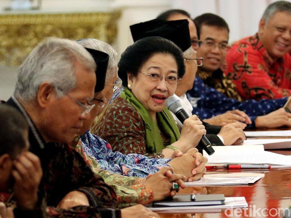 Foto: Megawati dkk Bahas Amandemen 1945 dengan Presiden Jokowi