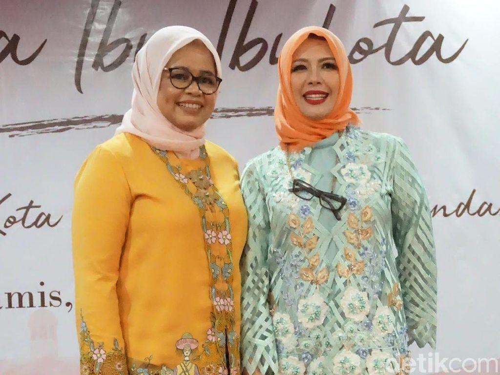 Gaya Istri Anies Baswedan Berkebaya Betawi Motif Bundaran HI