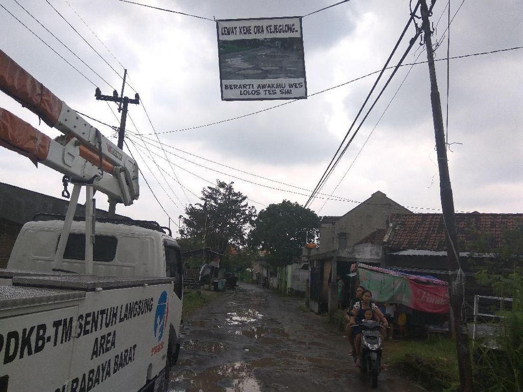 Jeglongan Sewu, Jalan Berlubang yang Dikeluhkan Warga Sidoarjo