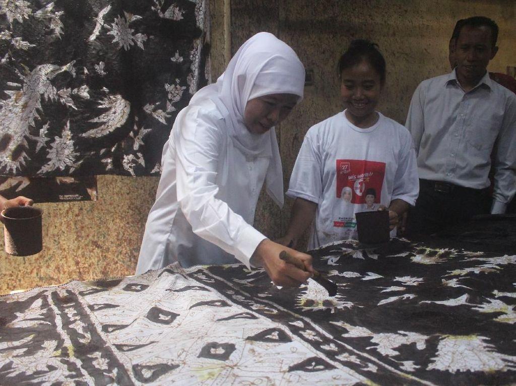 Saat Khofifah Kunjungi Kampung Batik Sidoarjo