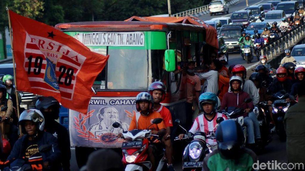 The Jak Jamin Jaga Ketertiban Saat Pawai Kemenangan Persija