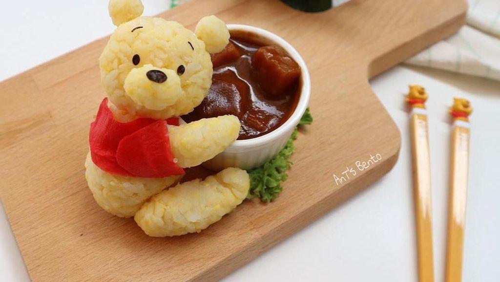 Imut dan Bikin Gemes! Bento Bentuk Totoro dan Winnie the Pooh