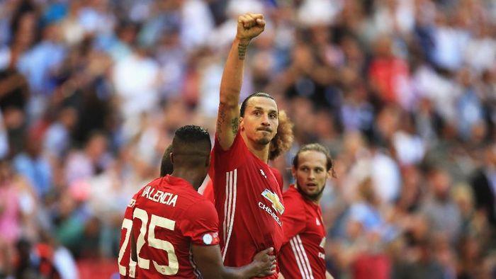 Zlatan Ibrahimovic saat masih di MU (Ben Hoskins/Getty Images)