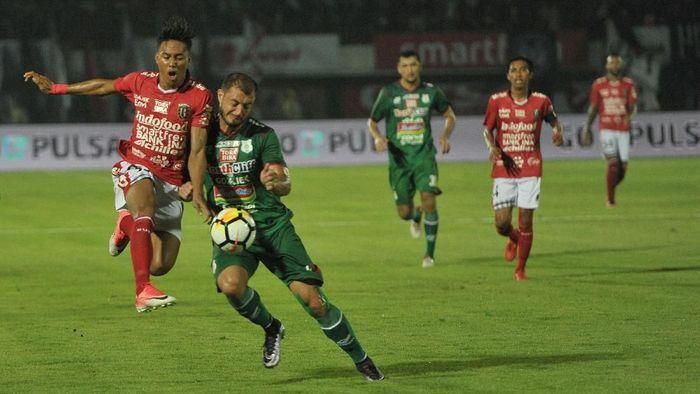 Bali United menang 1-0 atas PSMS Medan. (Foto: Nyoman Budhiana/Antara)
