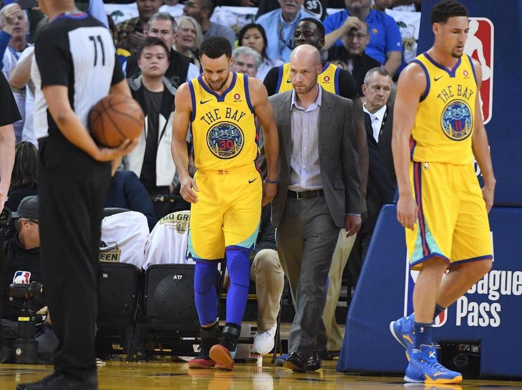 Warriors Menang, Curry Cedera Lagi