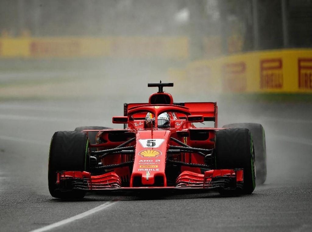 Sesi Ketiga Dikuasai Ferrari, Vettel Tercepat