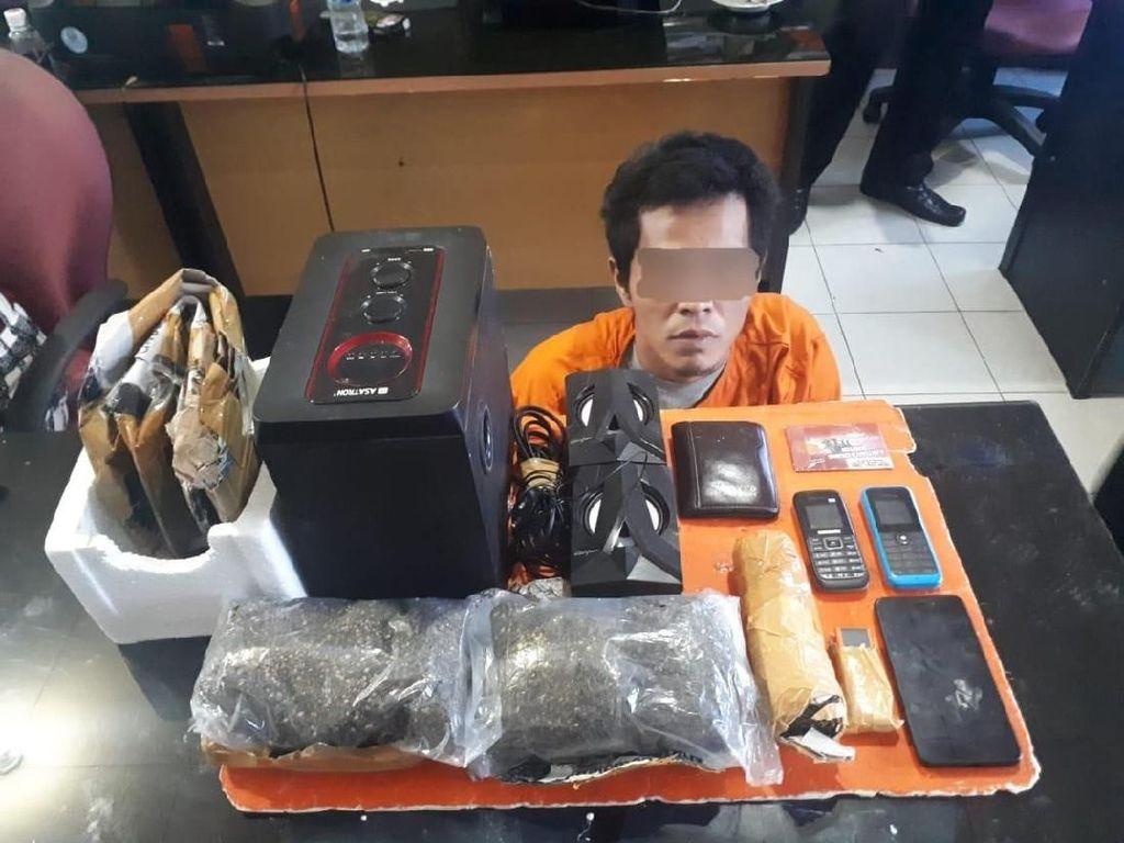 Tidak Jera, Napi di Riau Pesan Ganja 800 Gram