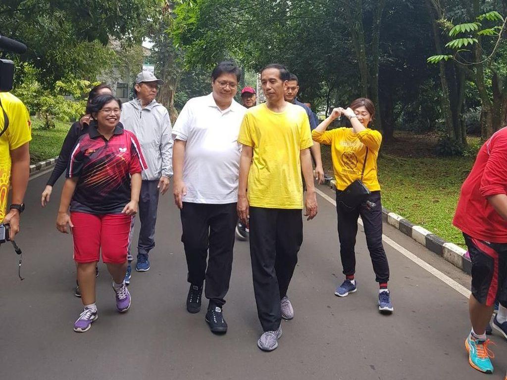 Kata Jokowi soal Chemistry dengan Airlangga