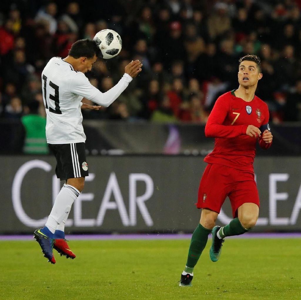 Dua Gol Ronaldo di Injury Time Menangkan Portugal atas Mesir