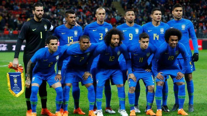 Timnas Brasil sudah mengumumkan 23 nama yang akan dibawa ke Piala Dunia 2018 di Rusia. (Foto: Sergei Karpukhin/Reuters)