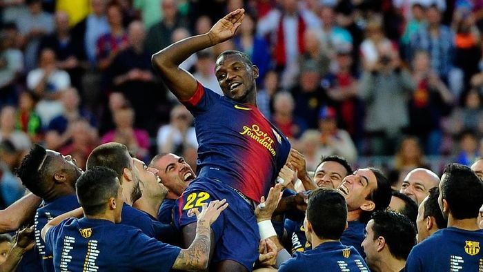Eric Abidal semasa main di Barcelona (Foto: David Ramos/Getty Images)