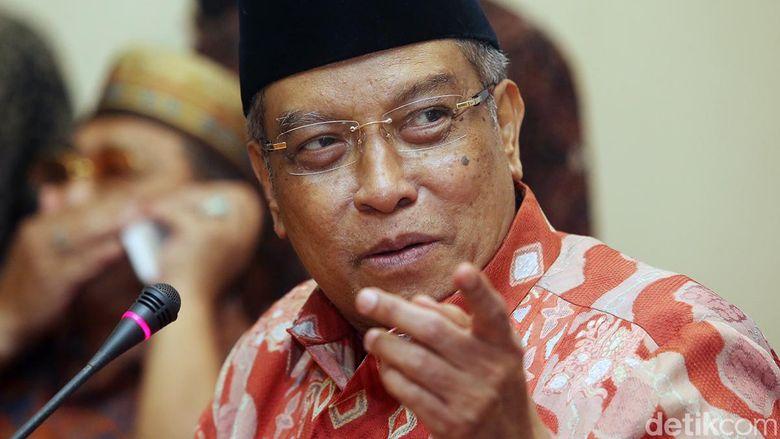 Said Aqil Singgung Aksi 212-Amien Rais di Diskusi NU Penjaga NKRI