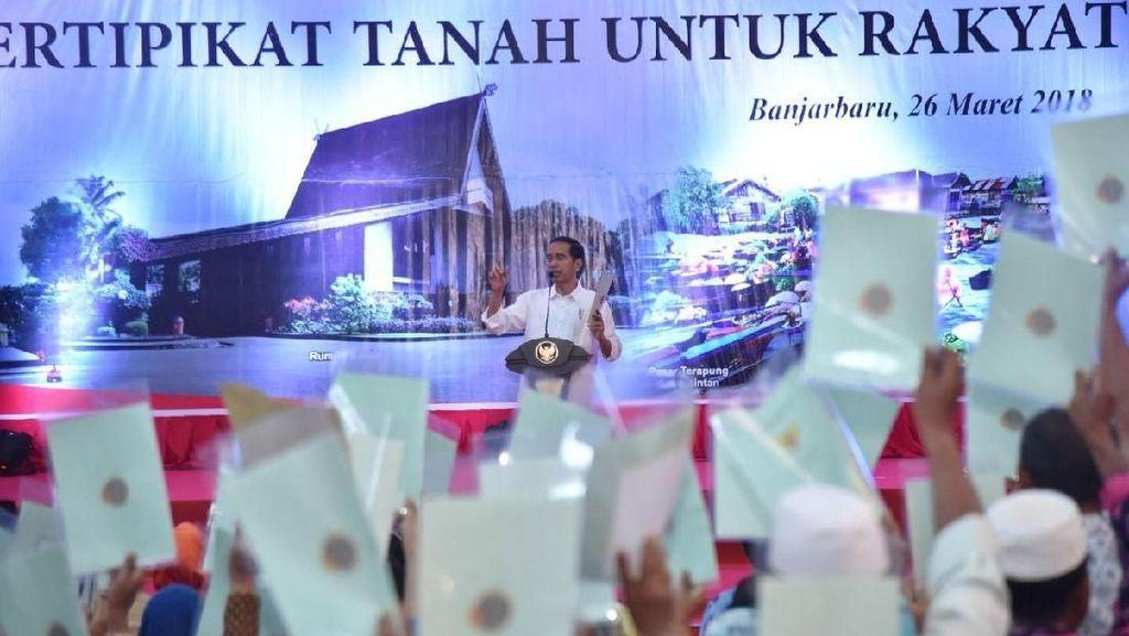 Saat Jokowi Minta Sertifikat Diangkat Sebagai Bukti Bukan Ngibul