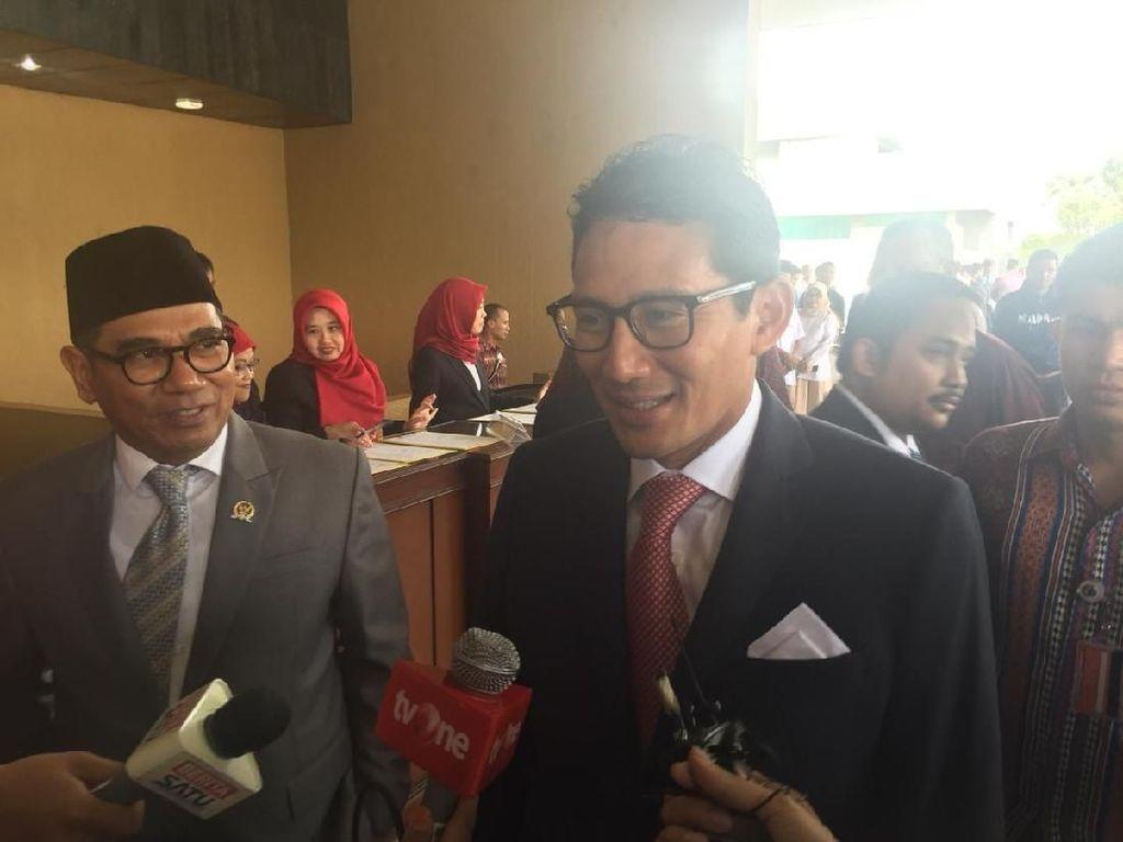 Muzani Jadi Pimpinan MPR, Sandiaga: Rezeki Nggak ke Mana
