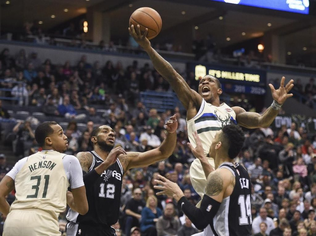 Rentetan Kemenangan Spurs Dihentikan Bucks