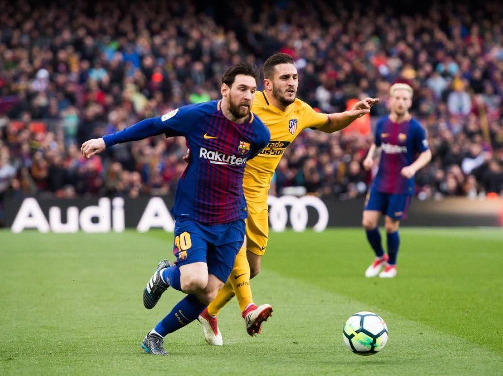Setiap Kali Berhadapan, Koke Cuma Bisa Berharap Messi Sedang Jalani Hari Buruk