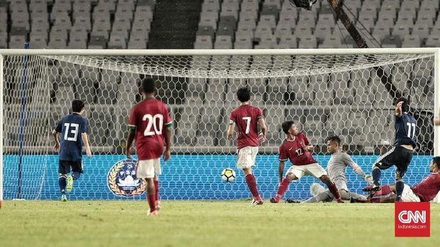 Timnas Jepang U-19 empat kali membobol gawang Timnas Indonesia U-19 dalam laga uji tanding, 25 Maret 2018.