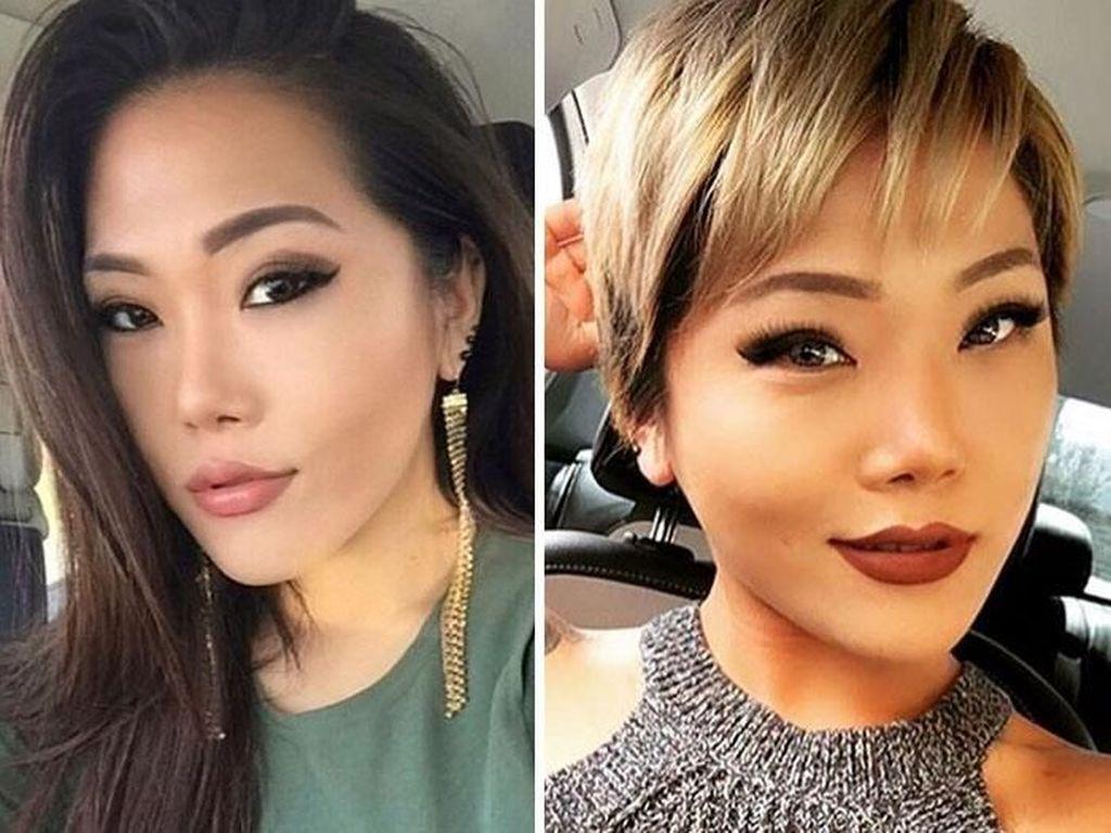 10 Penampilan Wanita yang Jadi Beda Banget Setelah Potong Rambut Drastis