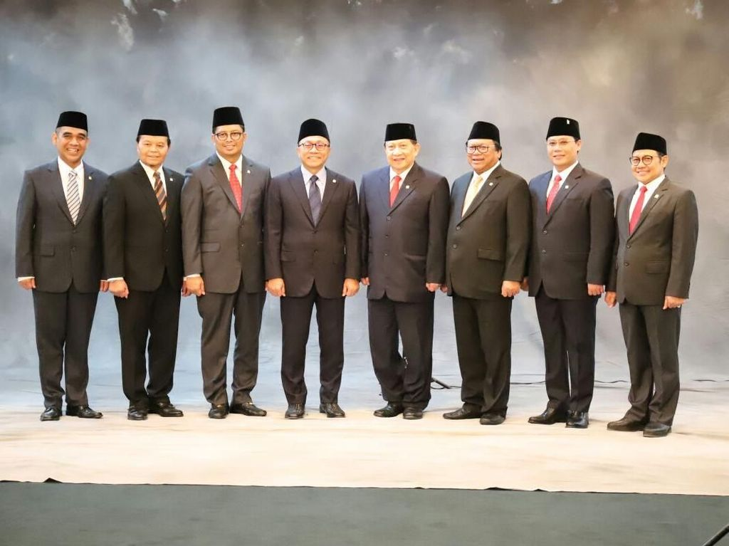Potret Ke-8 Pimpinan MPR