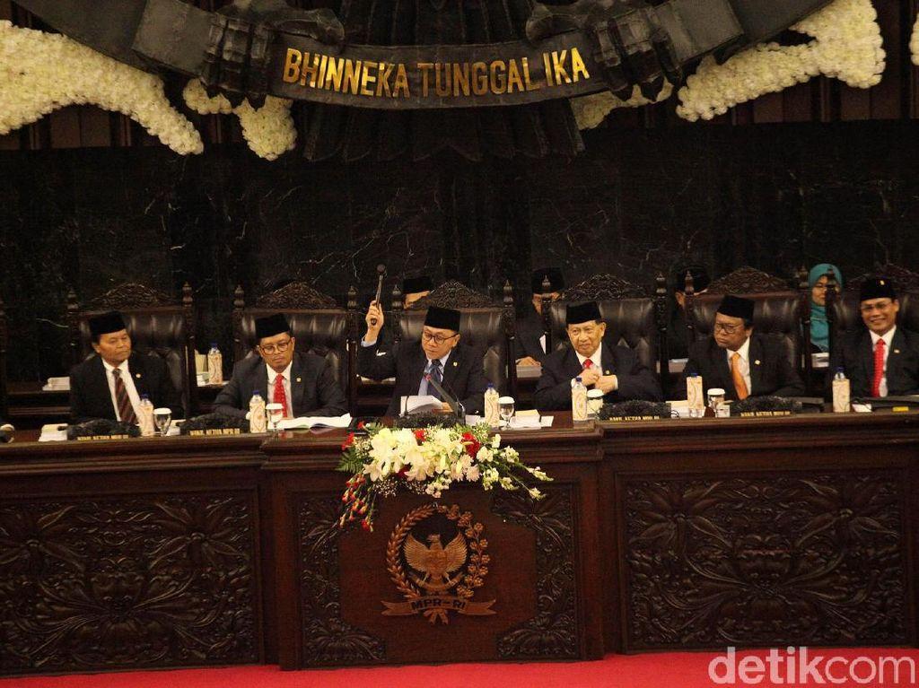 Cak Imin dkk Dilantik, Begini Formasi Duduk 8 Pimpinan MPR