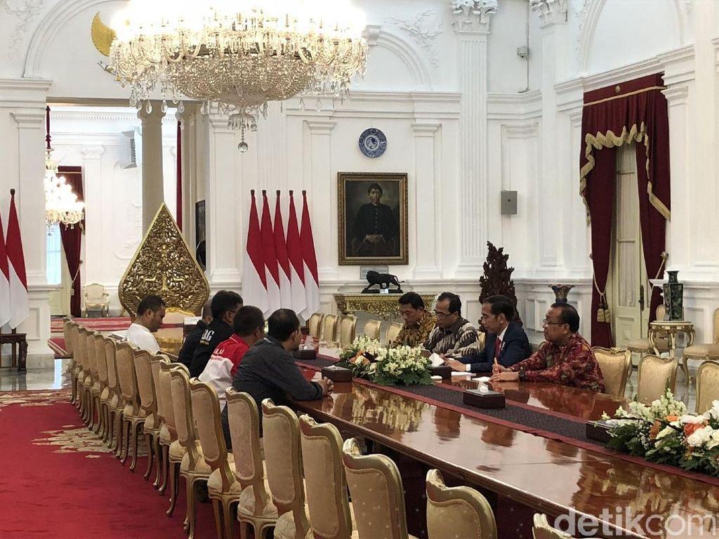Jokowi Terima Perwakilan Driver Ojol di Istana