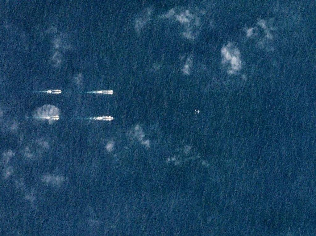 Citra Satelit Ungkap Latihan Militer China di Laut China Selatan