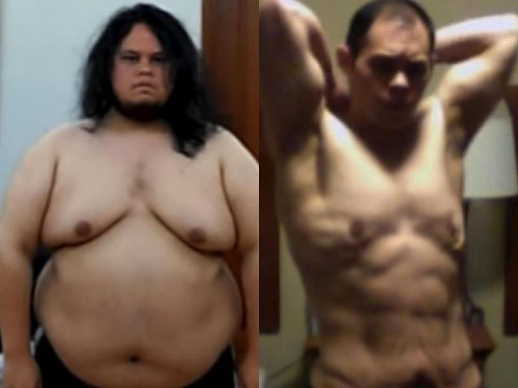 Pantang Menyerah, Pria Gemuk Ini Pangkas Bobot 86 Kg dan Jadi Berotot