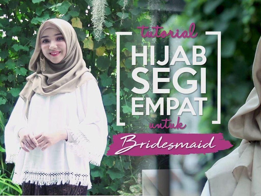 Tutorial Hijab Segi Empat untuk Jadi Bridesmaid ala Ayu Indriati