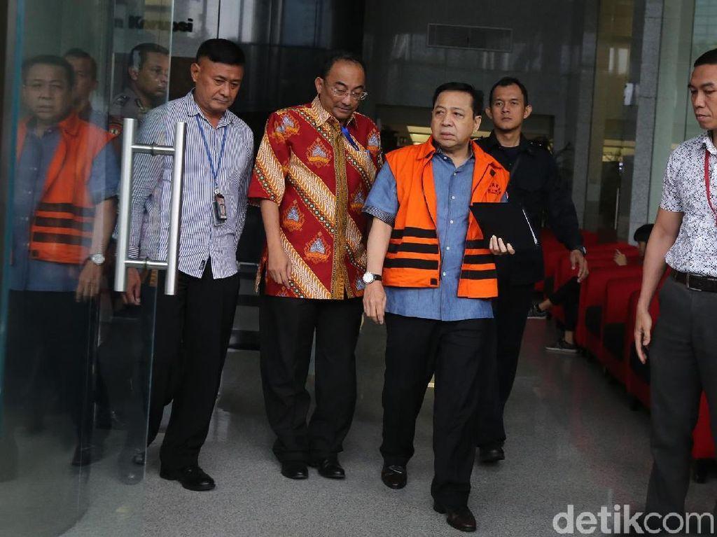 Novanto Bungkam Usai Diperiksa untuk Keponakannya