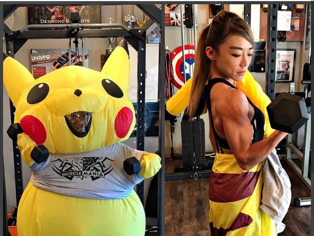 Di Balik Pikachu yang Imut, Siapa Sangka Ada Sosok Wanita Kekar