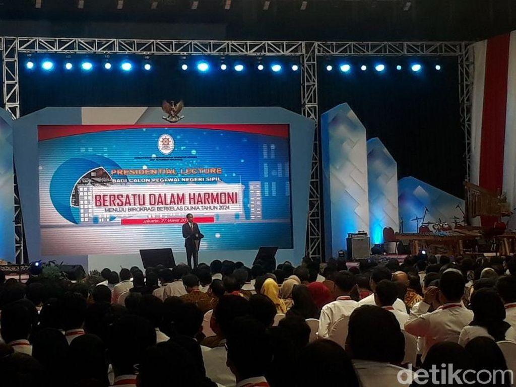 Jokowi Beri Arahan ke CPNS Zaman Now