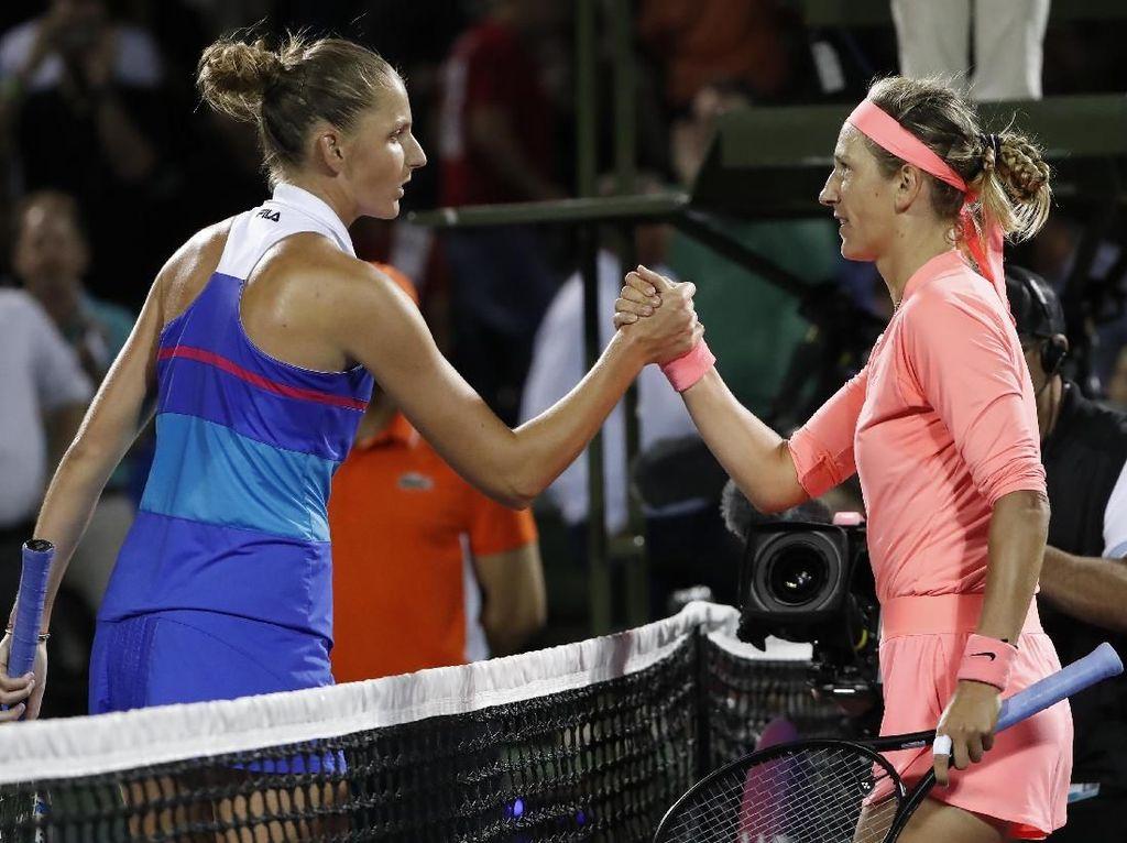 Kalahkan Pliskova, Azarenka Melangkah ke Semifinal