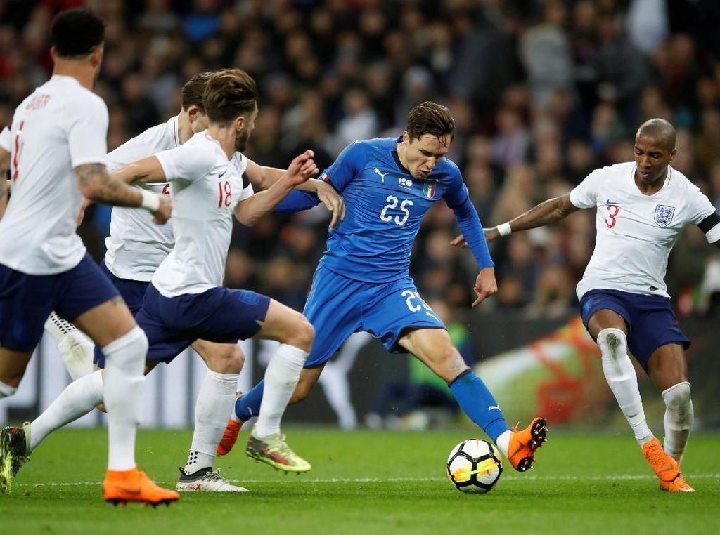 Penalti Italia di Menit Akhir Buyarkan Kemenangan Inggris