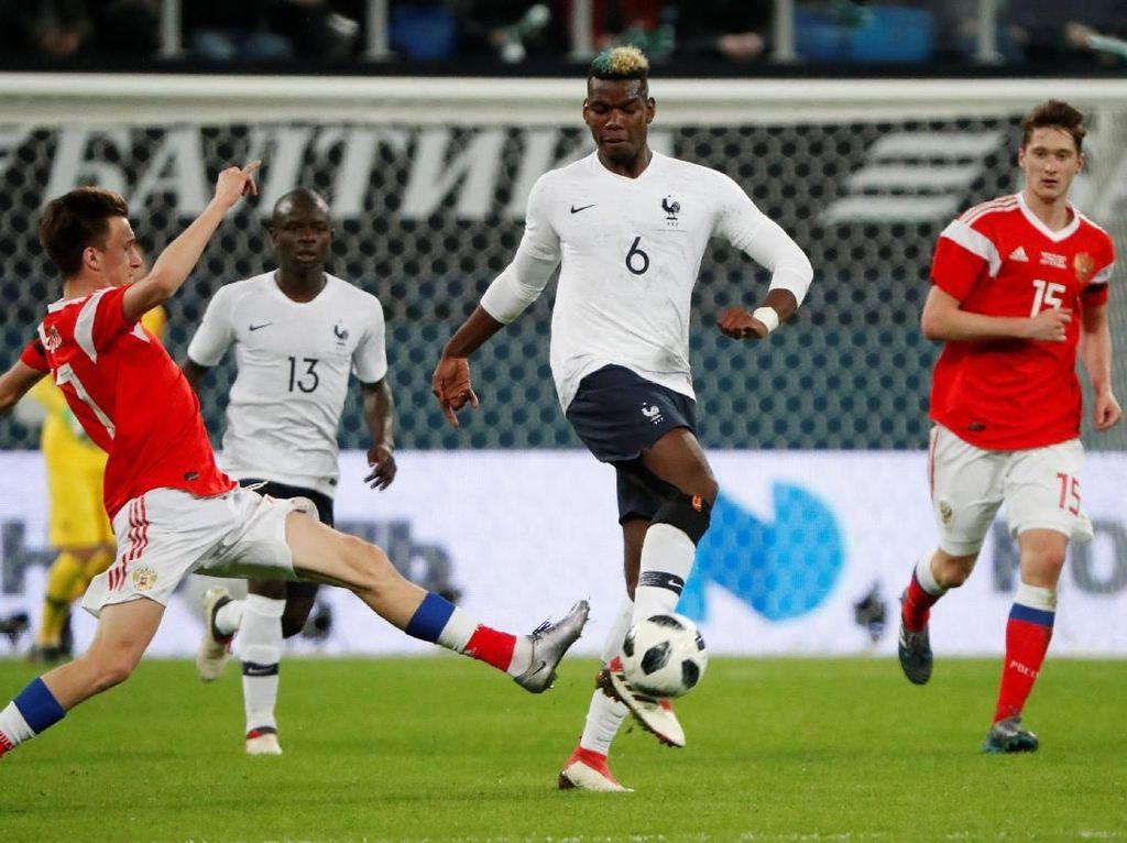 Pogba Bikin Gol dan Assist, Prancis Kalahkan Rusia