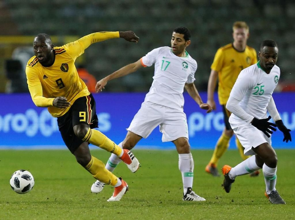 Lukaku Dua Gol, Belgia Gasak Arab Saudi 4-0