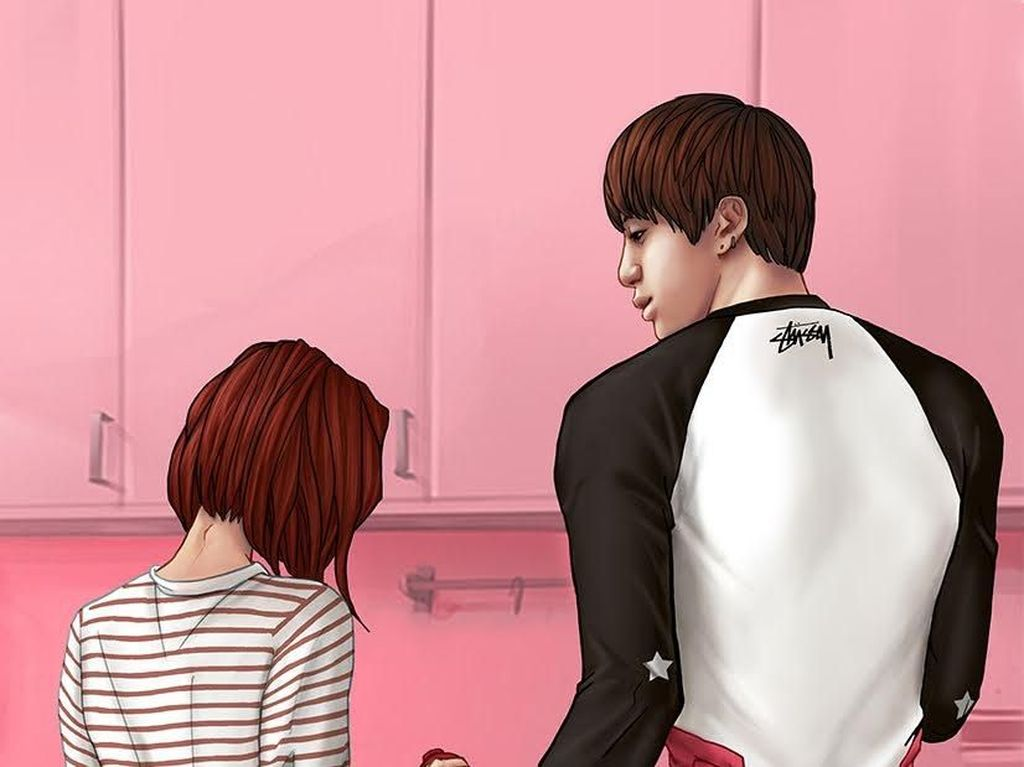 Bikin Baper, Ilustrasi Ini Gambarkan Rasanya Pacaran dengan Member BTS