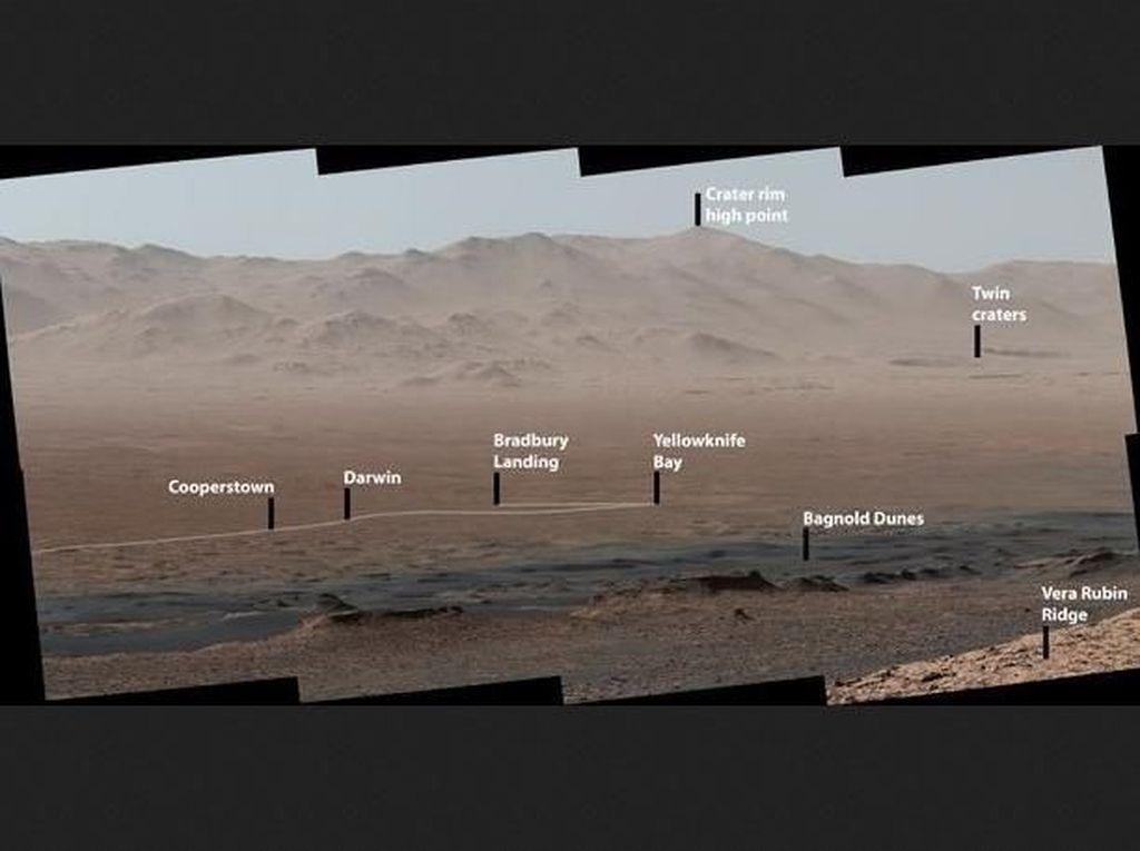 Jepretan Robot Curiosity Selama 2 Ribu Hari di Mars