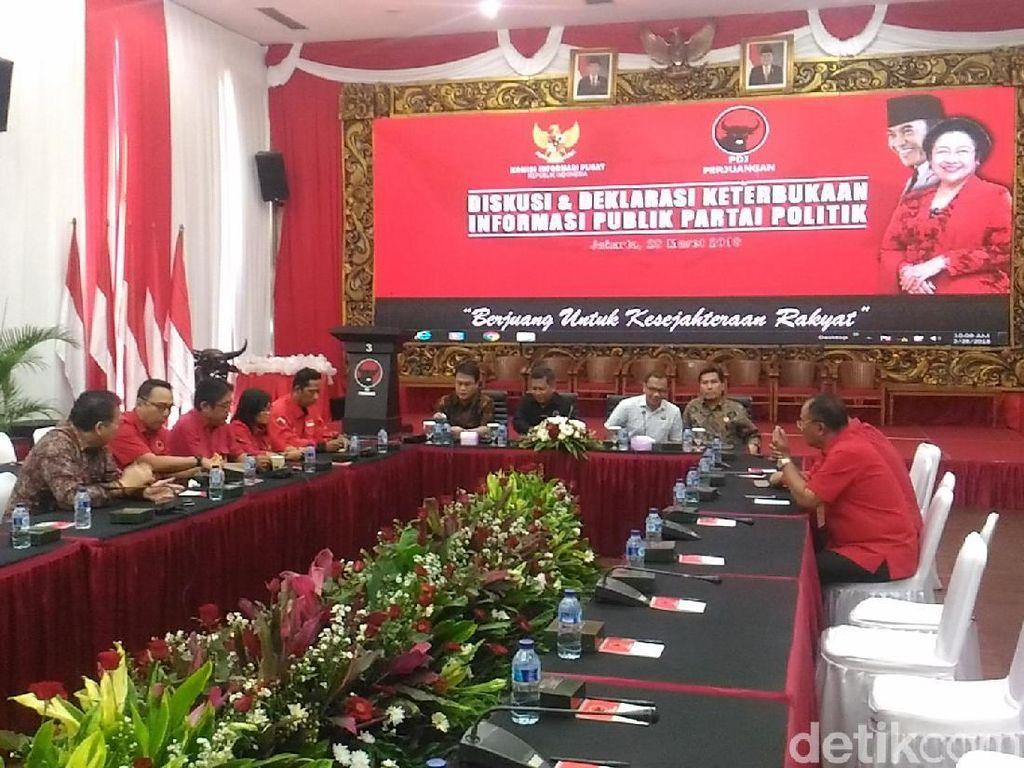 KIP Kunjungi PDIP Bahas Keterbukaan Parpol ke Publik