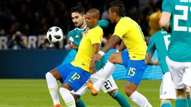 Timnas Jerman terakhir dikalahkan Brasil pada laga persahabatan.
