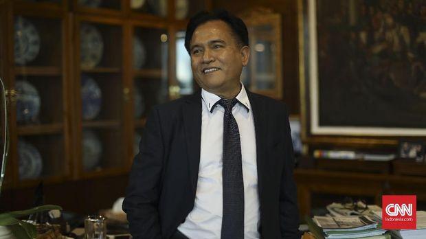 Yusril Ihza Mahendra. (CNN Indonesia/Artho Viando)
