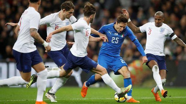 Timnas Italia terakhir menahan imbang timnas Inggris dalam laga persahabatan.