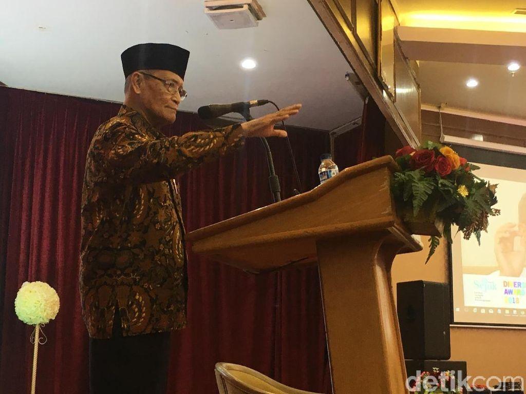 Saat Buya Syafii Rindu Gus Dur di Tengah Polarisasi Politik