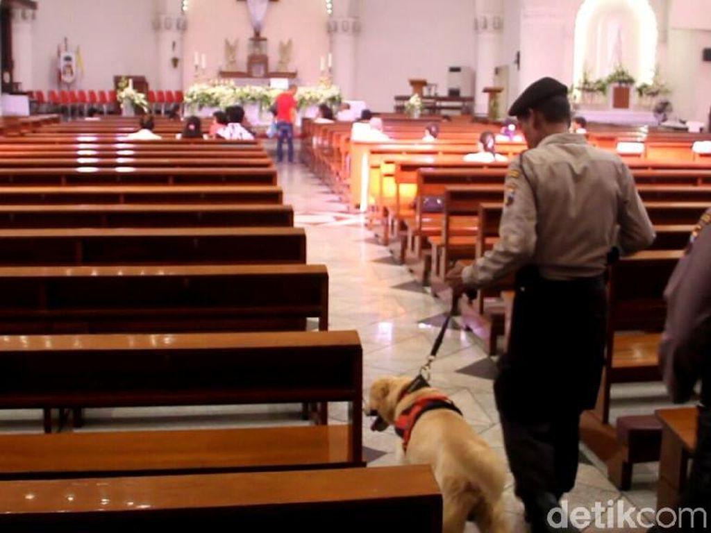 Anjing Pelacak Ikut Sterilkan Gereja di Semarang Jelang Paskah